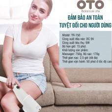 Máy massage cầm tay OTO TR-150 (Pin sạc) - Màu trắng